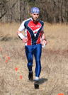 Vadim Masalkov heads for the finish at the Valley Goat 3, photo by Julie Keim